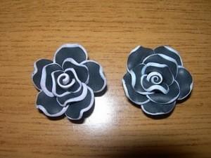 Rose in cernit