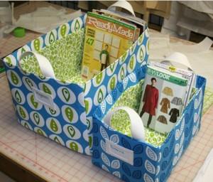 Come realizzare dei cesti di stoffa, di carta, portariviste, da pic-nic, svuotatasche, portatutto: 10 tutorial