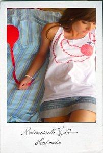 Mademoiselle VG:t-shirt modellate e disegnate a mano