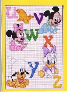 Schemi a punto croce della Walt Disney gratuiti