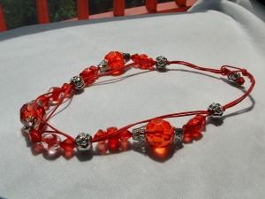 collana corda girocollo rossa