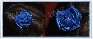 Idea per un fermaglio per capelli: la rosa blu