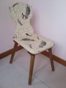 La foto del giorno:sedia decorata a decoupage da Jasmine