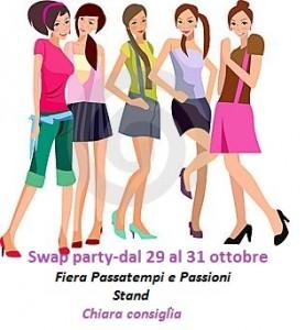 Swap party, dal 29 al 31 ottobre presso lo stand di Chiara Consiglia. Il regolamento per partecipare!