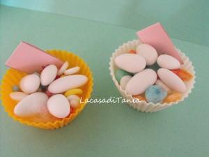 Idea bomboniera per Battesimo e non solo: il pirottino per cupcake decorato