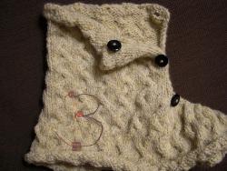 La foto del giorno:  scaldacollo in lana di Knitcrochething