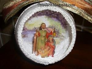 La foto del giorno: il presepe nella pallina di Tiziana