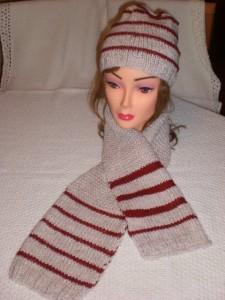 Come realizzare una sciarpa e un berretto in lana: tutorial-schema