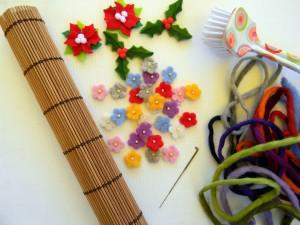 I materiali e le attrezzatture per l'infeltrimento della lana