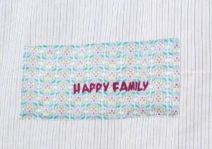 La foto del giorno: la tovaglia Happy Family di Chiara