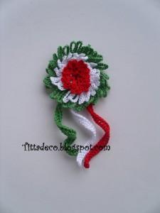 La foto del giorno: la coccarda tricolore di Tiziana