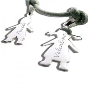 Idea regalo: Bracciali con cherubini in argento, personalizzabili!