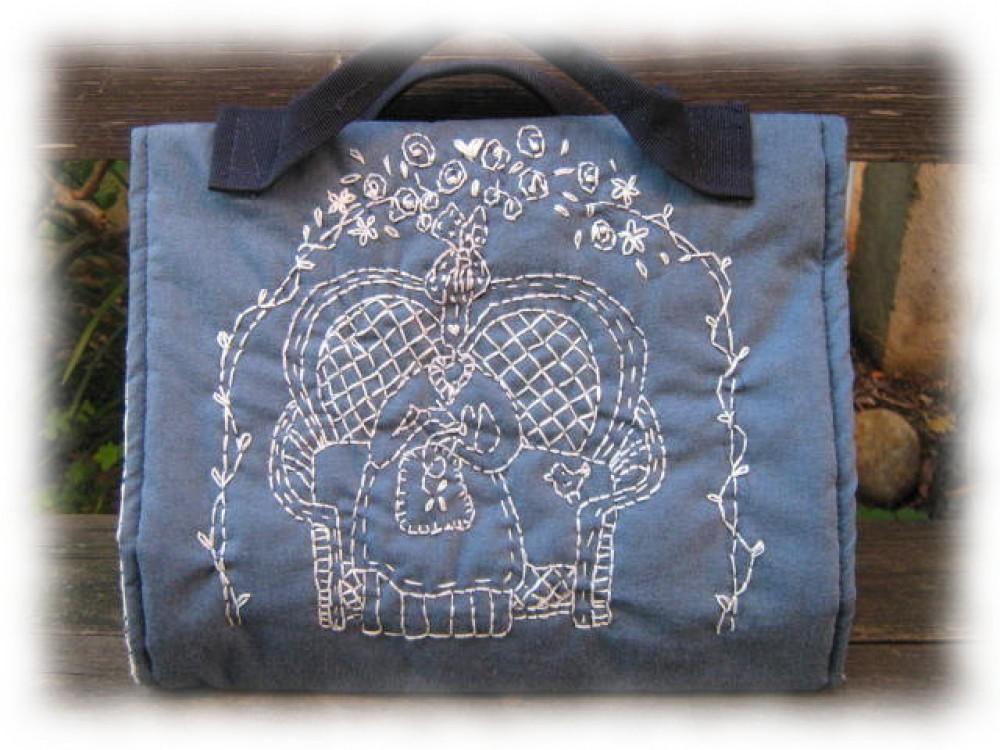 Come realizzare una borsa porta cucito: progetto di Donatella