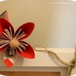 Come decorare una cornice Ikea con fiori in origami:l'idea di Chiara