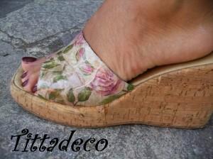 La foto del giorno: le scarpe a decoupage di Tiziana
