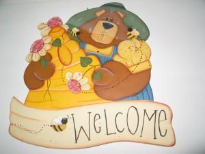 """La foto del giorno: il pannello """"Welcome"""" di Michela"""