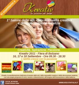 Kreativ a Bolzano dal 16 al 18 settembre
