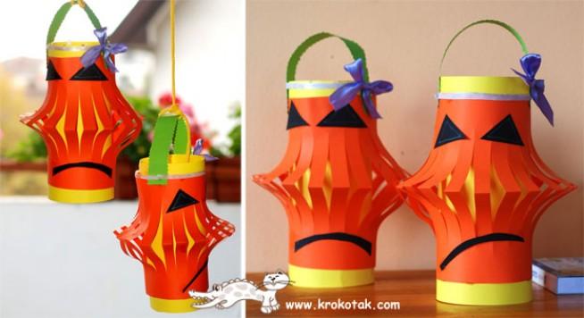 Super Come realizzare delle finte lanterne di carta per Halloween: tutorial EJ73