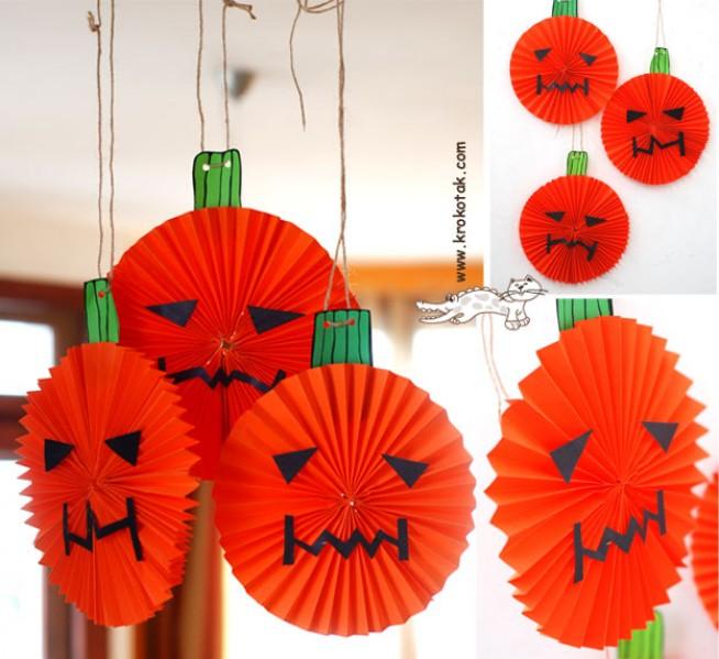 Come realizzare delle zucche di carta per Halloween  tutorial f0b981c56df0