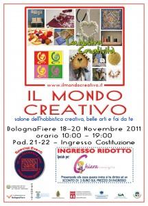 Ti aspetto al Mondo Creativo di Bologna 18-21 novembre. Scarica qui il biglietto ridotto