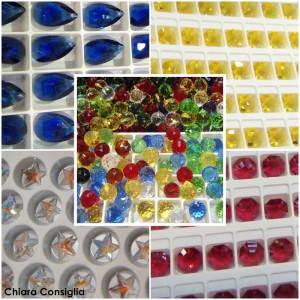 Componenti per gioielli in vetro e swarovsky al Mondo Creativo