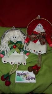 La foto del giorno: le bamboline per l'albero di Natale di Stefania