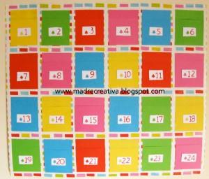 Come realizzare un calendario dell'Avvento con cartoncini colorati: tutorial