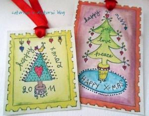La foto del giorno: i francobolli di Natale di Caterina