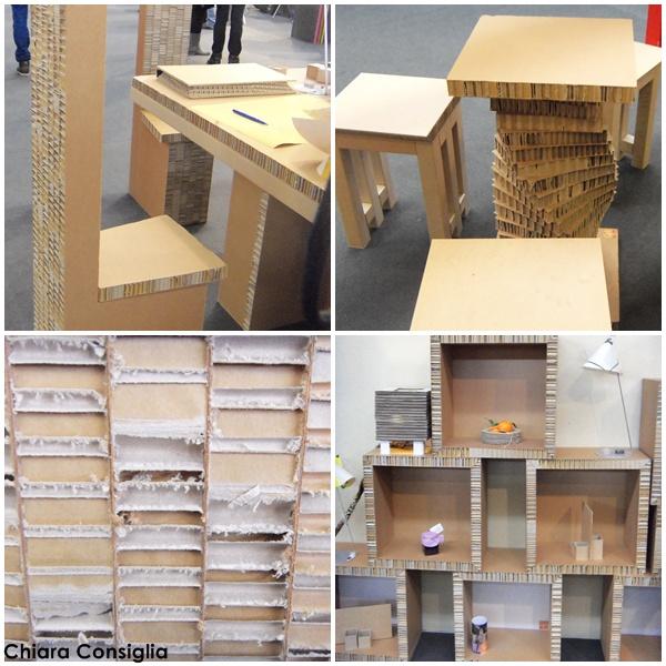 A curiosa in fiera mobili e accessori in cartone for Arredamento per fiere