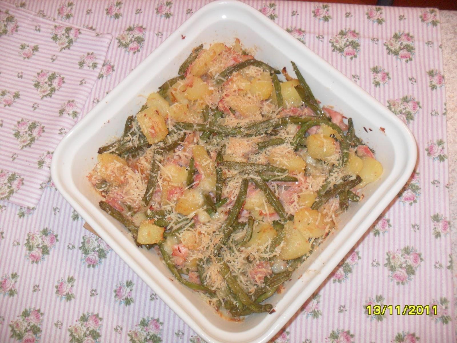 Tortino di fagiolini e patate