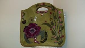 La foto del giorno: la borsa in feltro di Stefania
