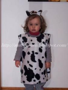 vestito da mucca