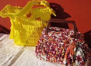 La foto del giorno: le borse in fettuccia di Lucia