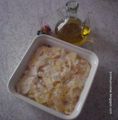 Tortino di patate, speck e scamorza