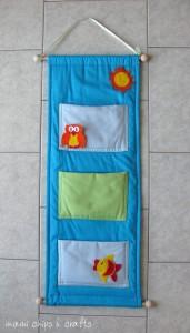 Come realizzare un porta oggetti di stoffa per il bagno: cartamodello