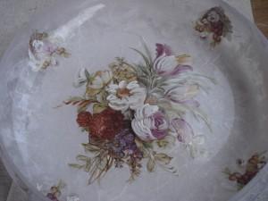 La foto del giorno: il centrotavola a decoupage di Elisabetta