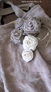 La foto del giorno:la borsa in lino di Francesca