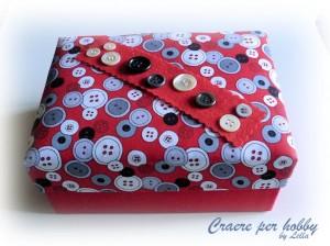 Come realizzare una scatola rivestita in tessuto: tutorial