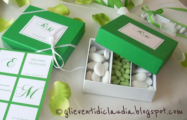 La foto del giorno: le scatole segnaposto di Claudia