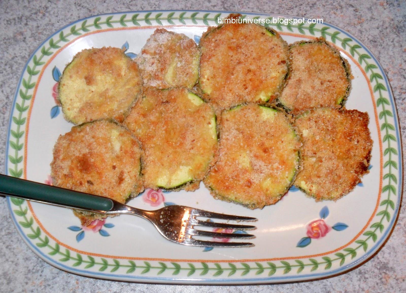 Fette di zucchine al forno