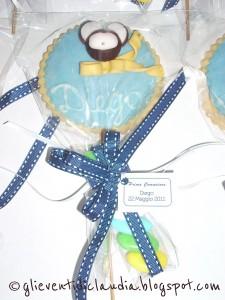 La foto del giorno: i lecca lecca biscotto di Claudia