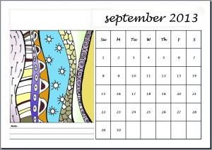 La foto del giorno: il calendario con disegni Zentagle di Valeria