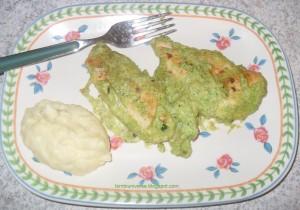 Pollo in crema di zucchine
