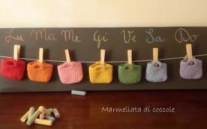 La foto del giorno: il calendario dell'Avvento con le borsine in lana di Patrizia