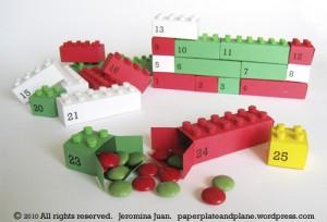 calndario dell'avvento ispirato ai lego