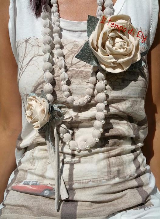 La foto del giorno: la collana con rosa di Elisa