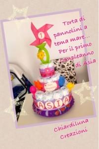 La foto del giorno: la torta di pannolini di Chiara