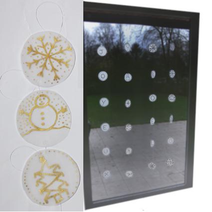 Decorazione di Natale per le finestre: Tutorial
