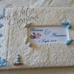 La foto del giorno: il guestbook per l'agenzia di viaggi di Mani di Fata