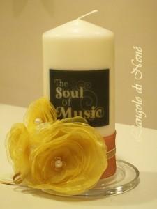 La foto del giorno: la candela decorata di Antonella